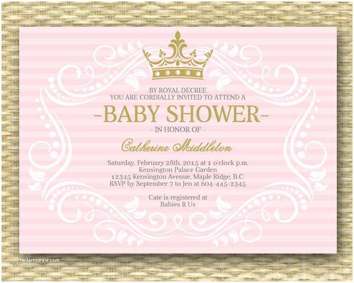 Free Baby Shower Invitation Free Printable Princess Baby Shower Invitations