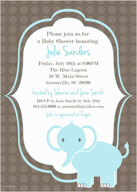 Free Baby Shower Invitation Printable Baby Shower Invitation Elephant Boy Light