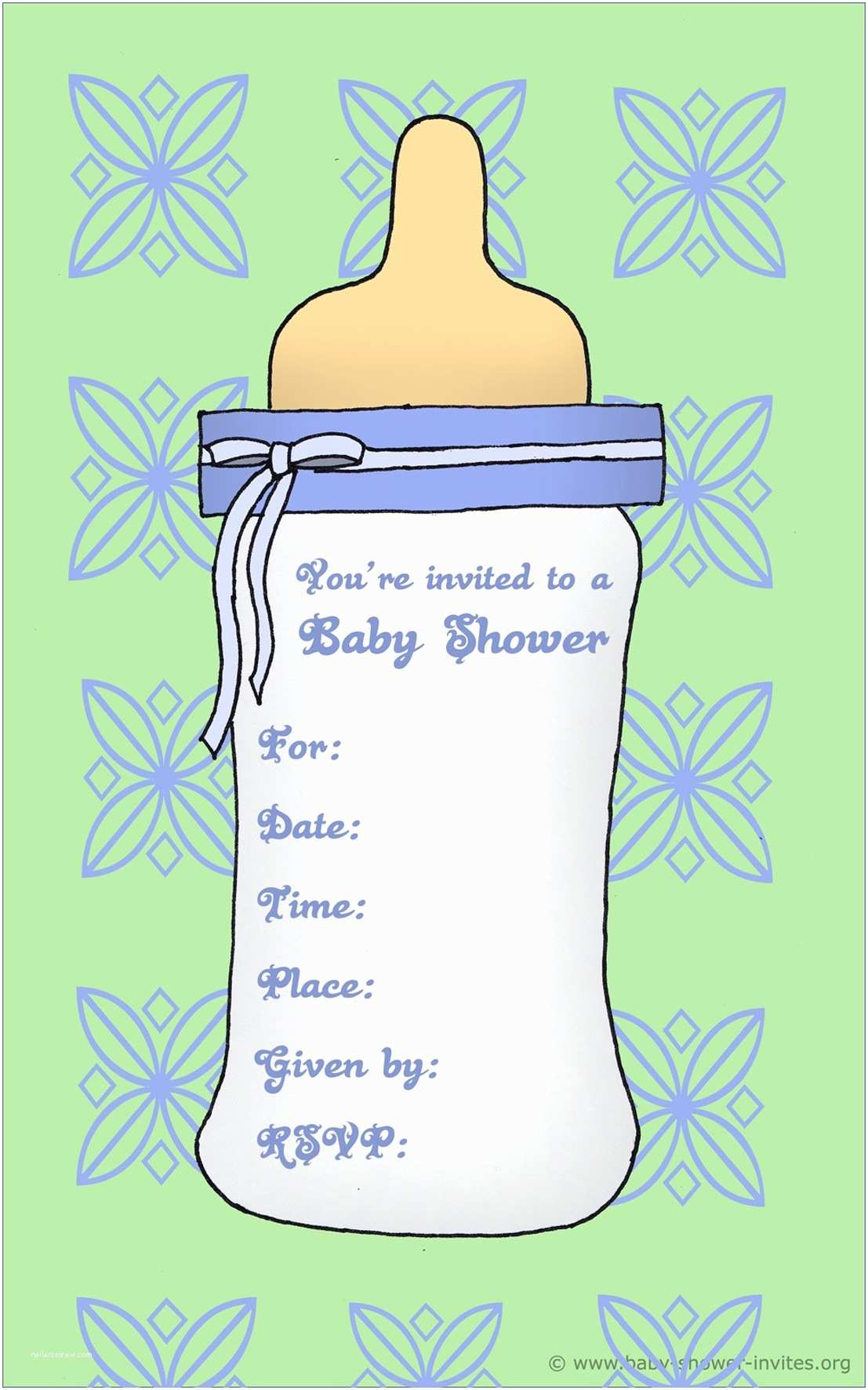 Free Baby Shower Invitation Templates | Invitation Templates For Baby Boy Shower
