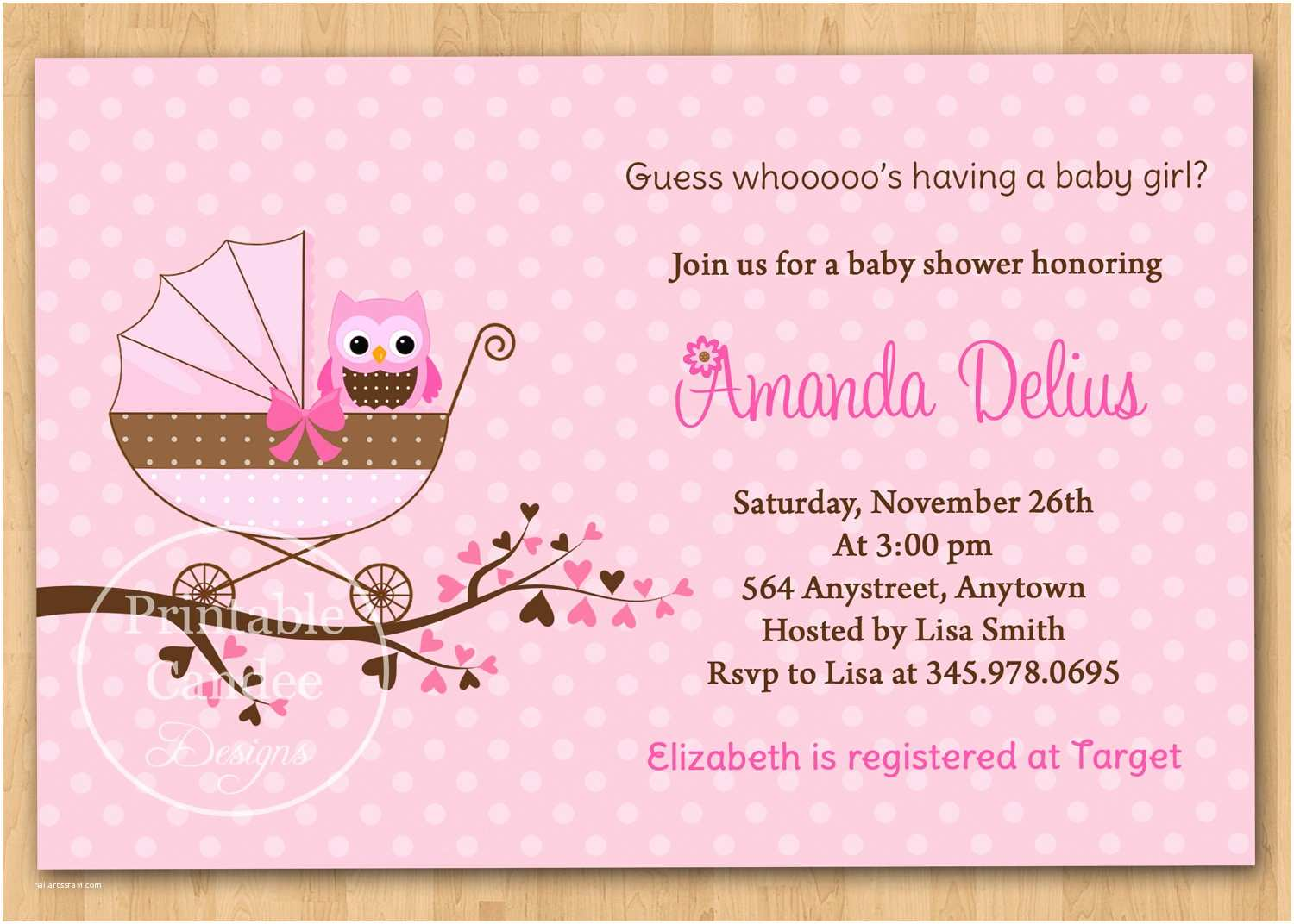 Free Baby Shower Invitations for Girls Free Printable Baby Shower Invitations for Girls