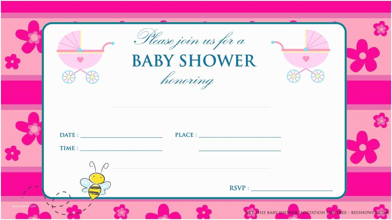 Free Baby Shower Invitations for Girls Free Printable Pink Baby Shower Invitation