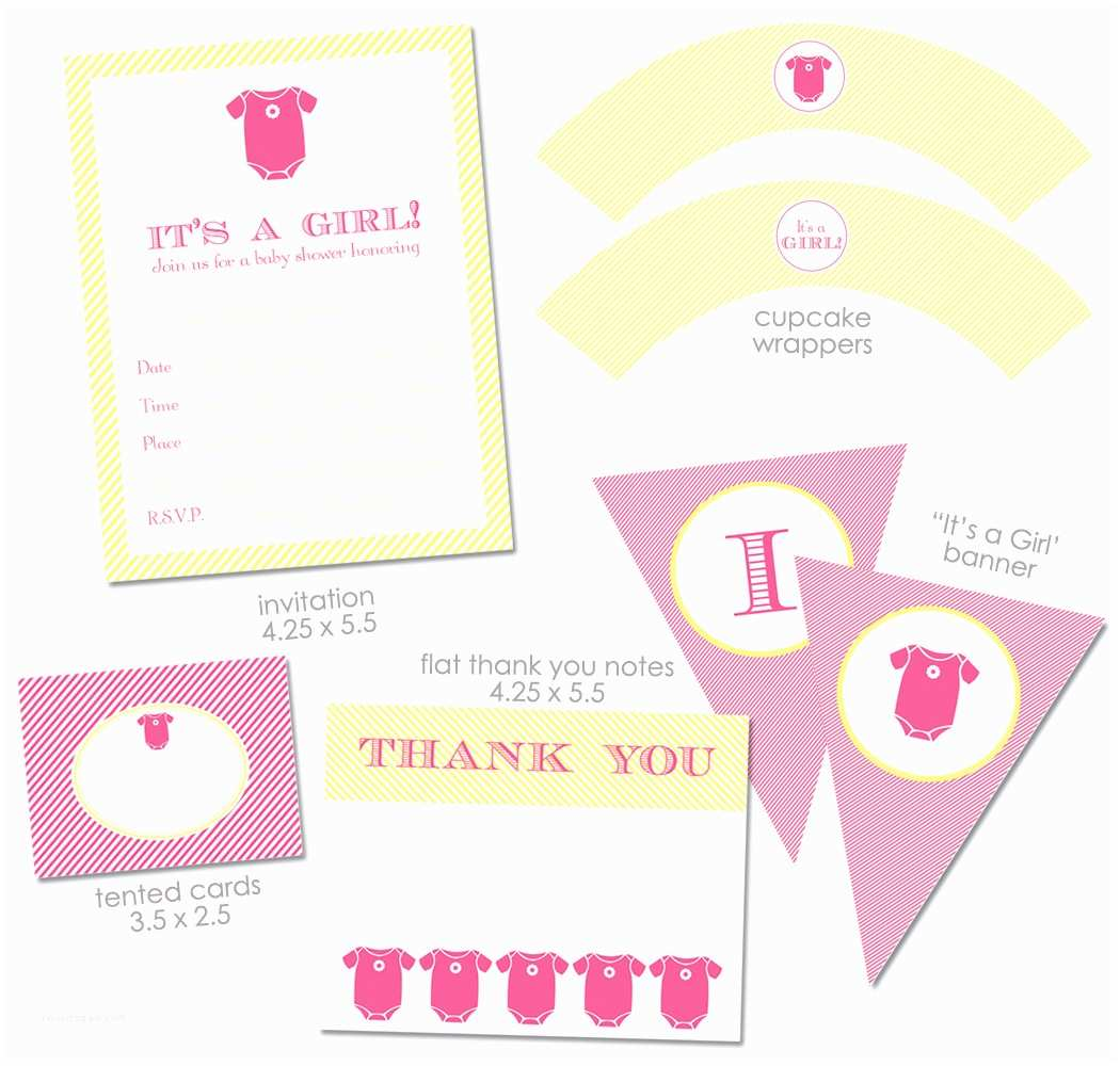 Free Baby Shower Invitations for Girls Template Baby Free Printable Shower Girl Invitations