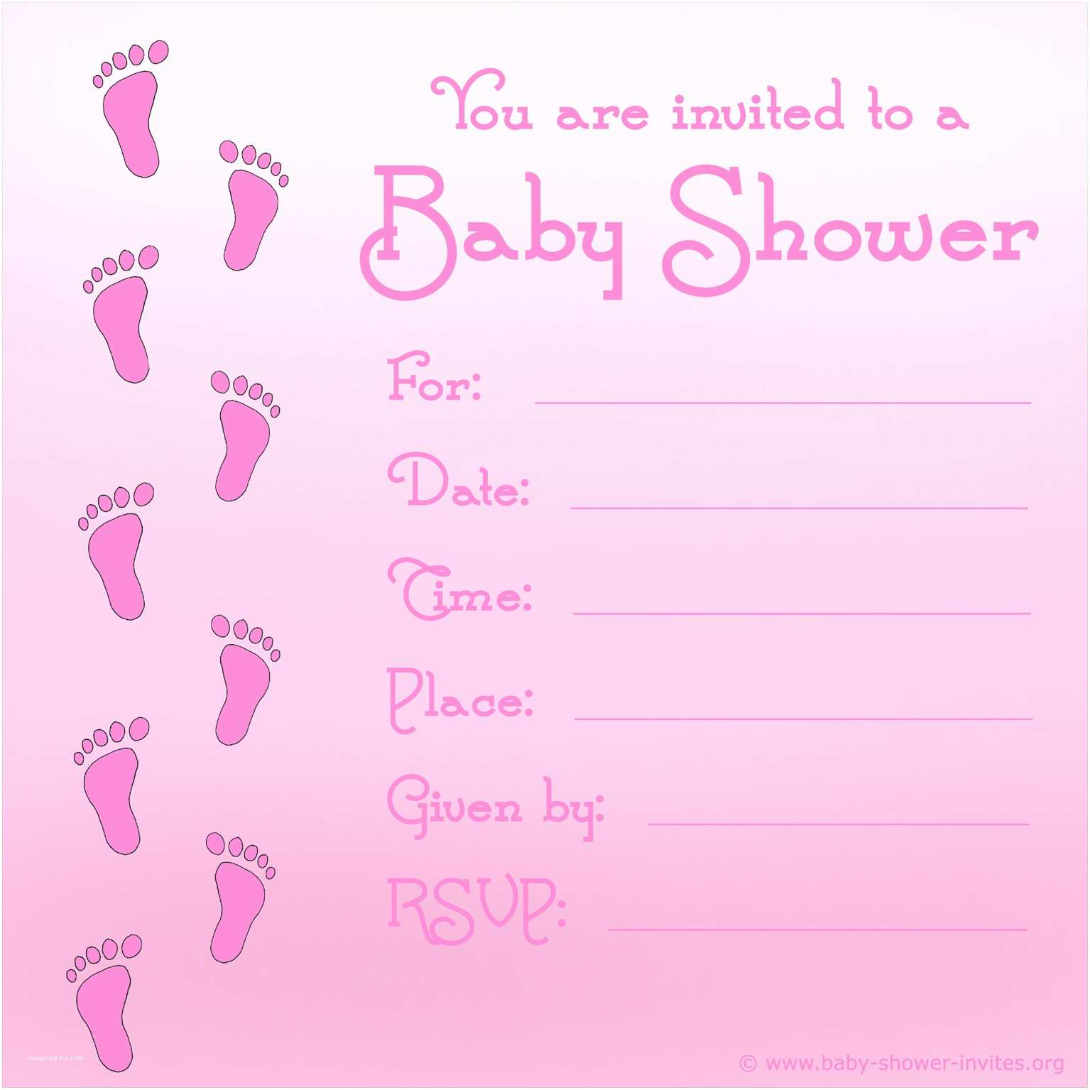 Free Baby Shower Invitations Free Printable Baby Shower Invitations for Girls