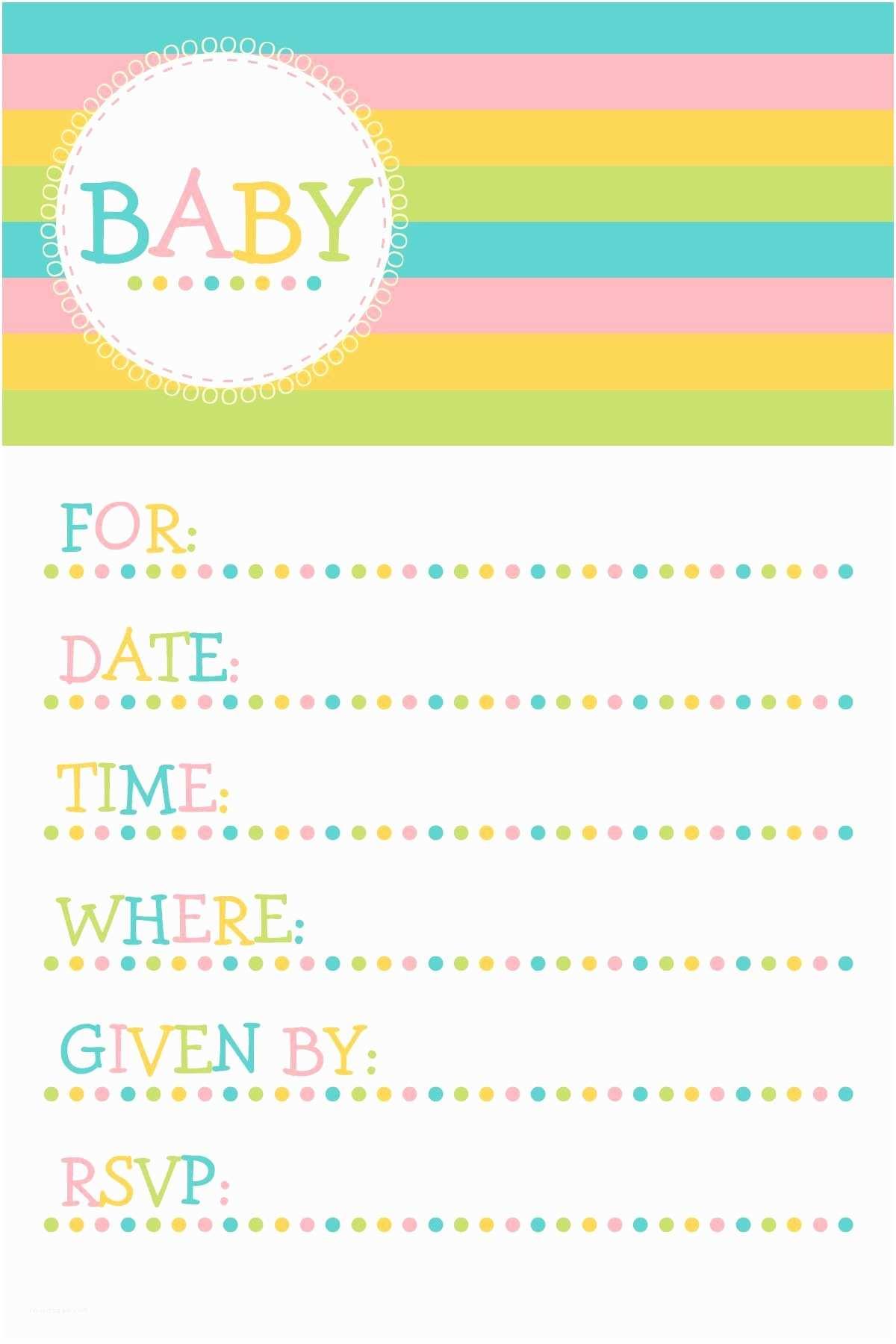 Free Baby  Invitations Templates Free Baby Invitation Template Free Baby