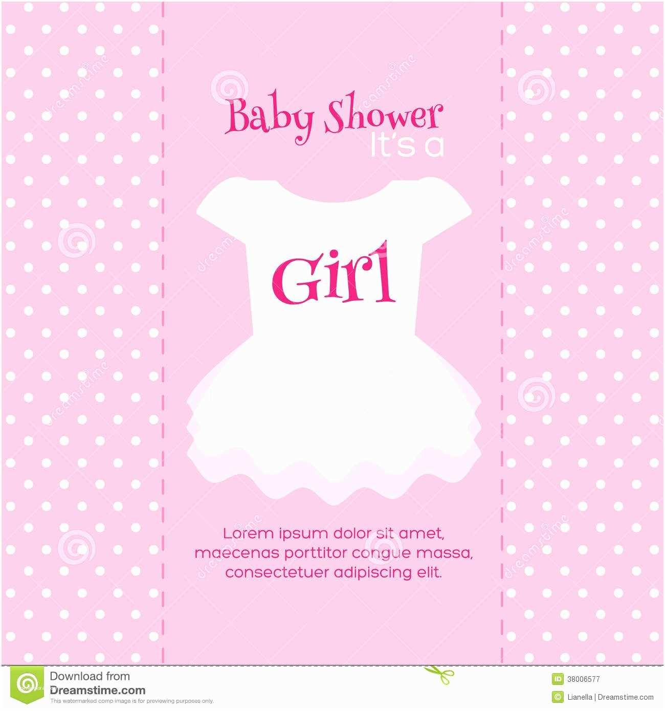 Free Baby Shower Invitations  Girl Baby Shower Invitations