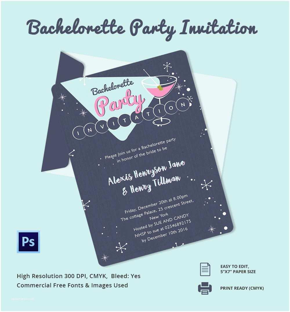 Free Bachelorette Party Invitations Bachelorette Invitation Template 40 Free Psd Vector