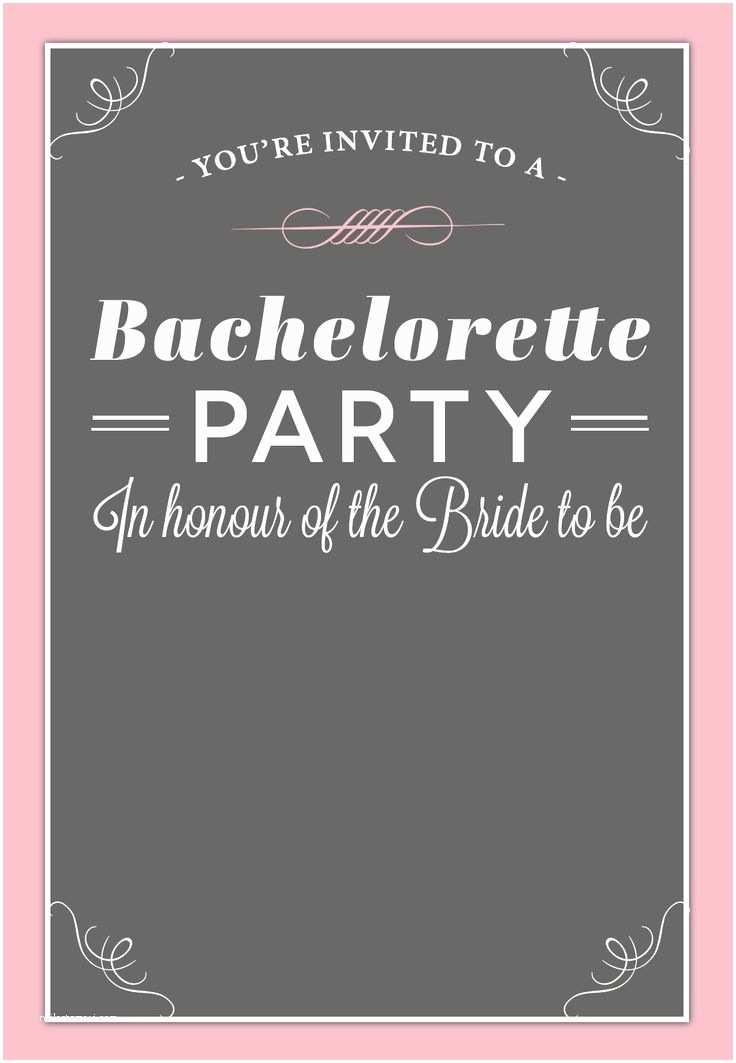 Free Bachelorette Party Invitations Bachelorette Party Invitation Free Printable