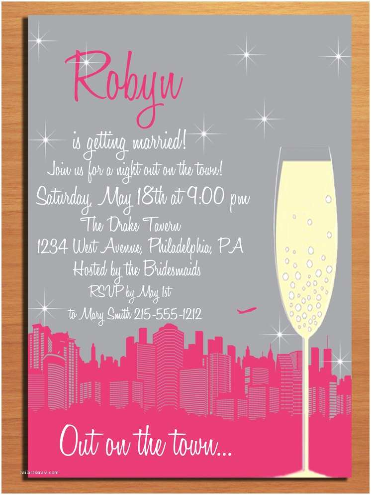 Free Bachelorette Party Invitations Customized Printable Bachelorette Party Invitations Night