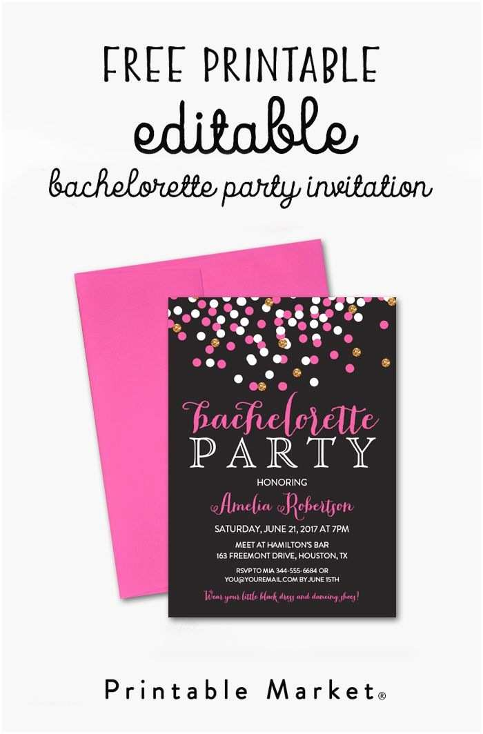 Free Bachelorette Party Invitations Free Editable Bachelorette Party Invitation – Gray Hot