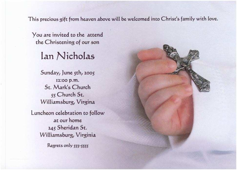 Free Baptism Invitations Baptism Invitation Free Baptism Invitations to Print