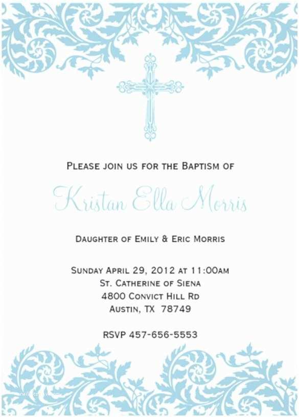 Free Baptism Invitations Free Christening Invitation Template