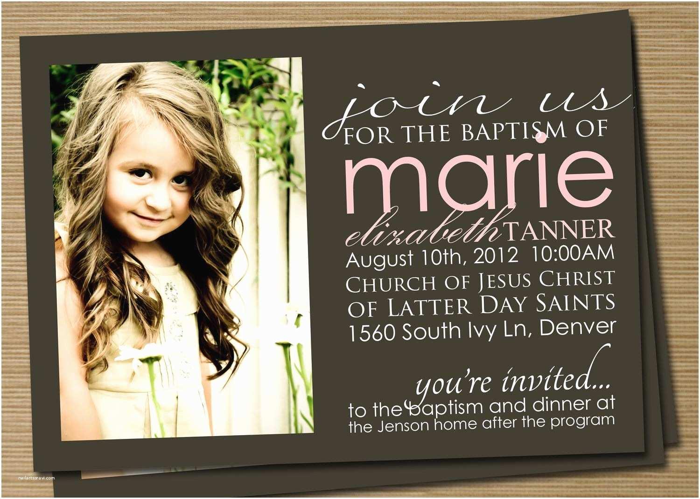 Free Baptism Invitations Lds Baptism Invitations