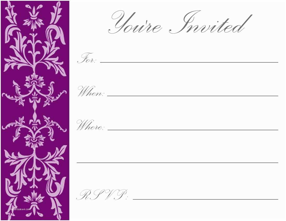 Free Birthday Invitation Templates Party Online Card
