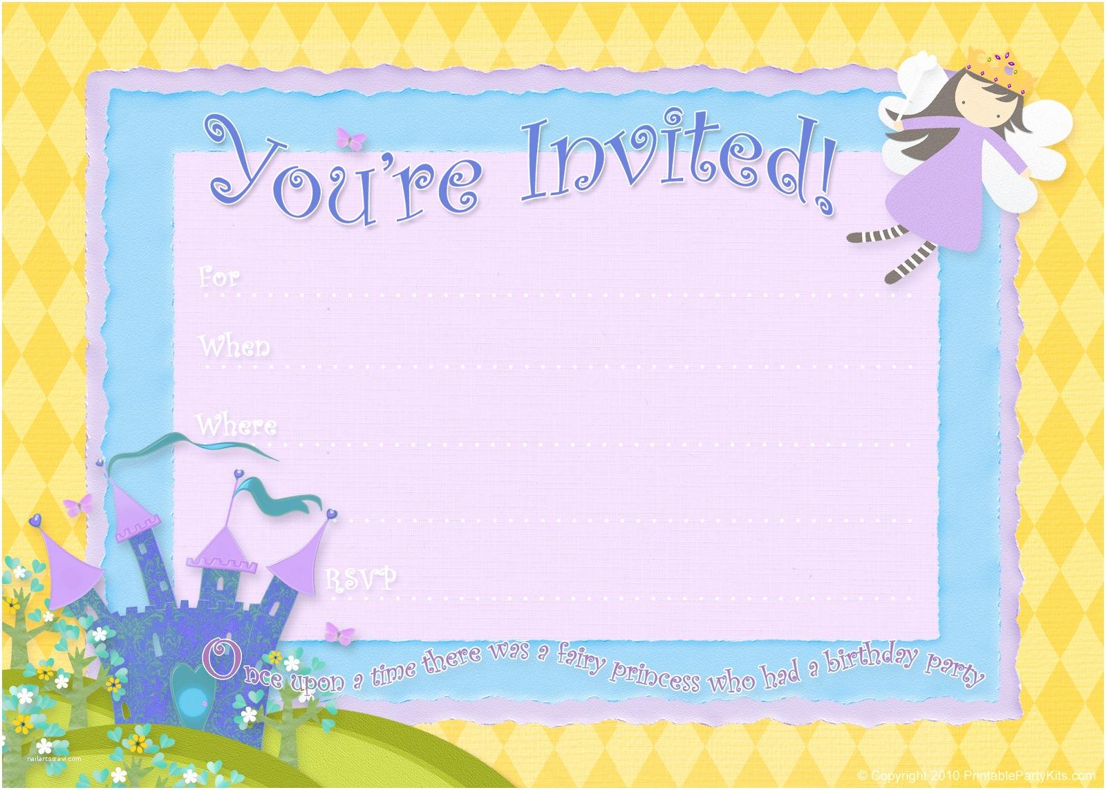 Free Birthday Invitation Templates Free Birthday Party Invitations – Bagvania Free Printable