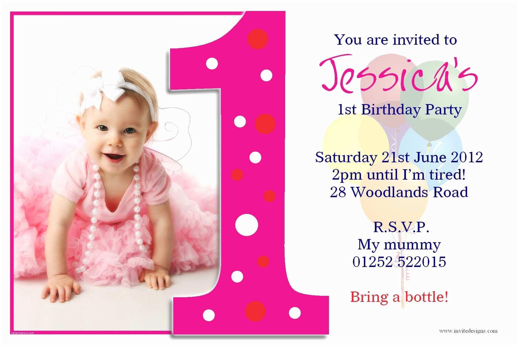 Free Birthday Invitations Birthday Invitation Card Free Printable 1st Birthday