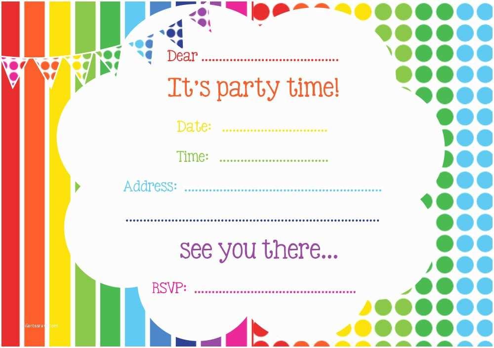 Free Birthday Invitations Templates Free Printable Birthday Invitations Line – Bagvania Free