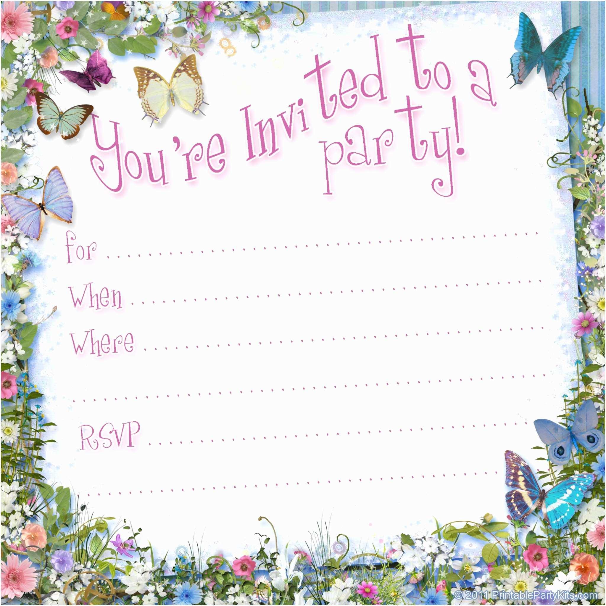 Free Birthday Invitations Templates Free Printable Invitations On Pinterest