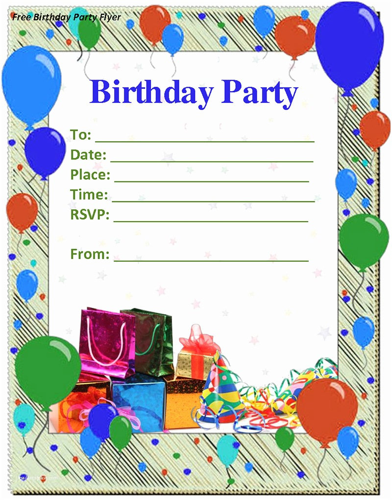 Free Birthday Party Invitation Templates Birthday Invitation Templates
