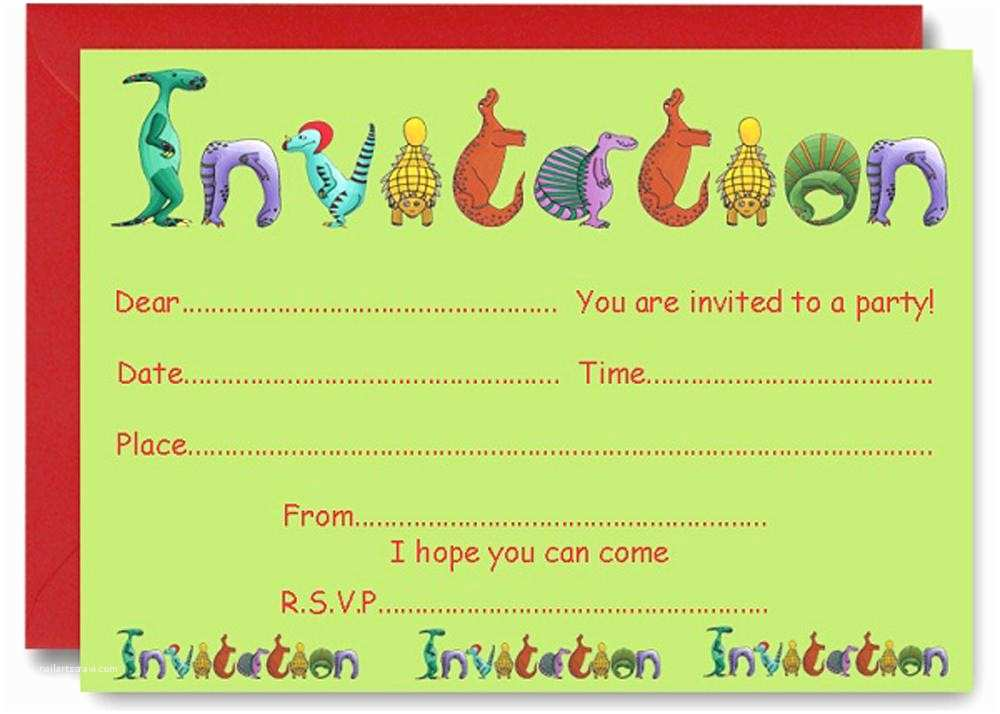 Free Birthday Party Invitations 17 Dinosaur How To Sample Templates