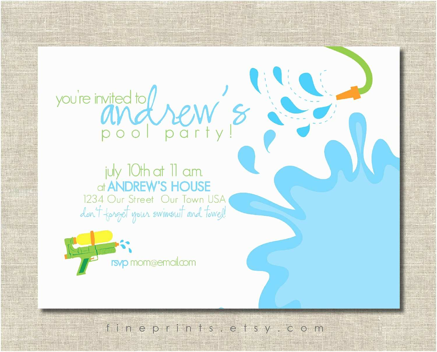 Free Birthday Party Invitations Free Printable Pool Party Birthday