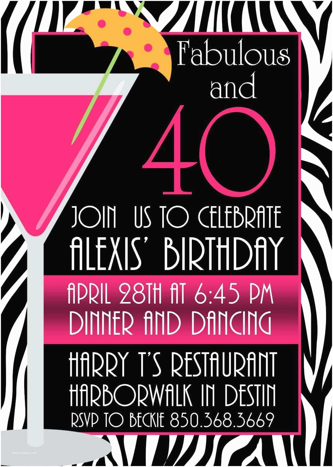 Free Birthday Party Invitations Pictures Of Stylish Women for 40th Birthday Invitation