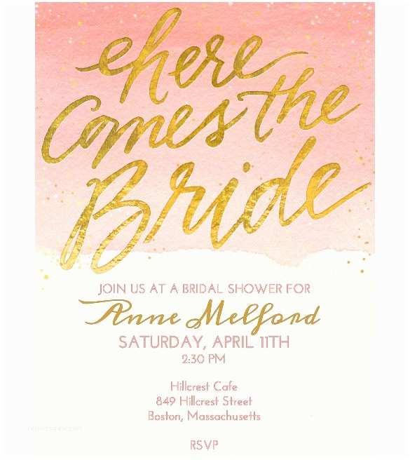 Free Bridal Shower Invitations Wedding Invitation Template 71 Free Printable Word Pdf