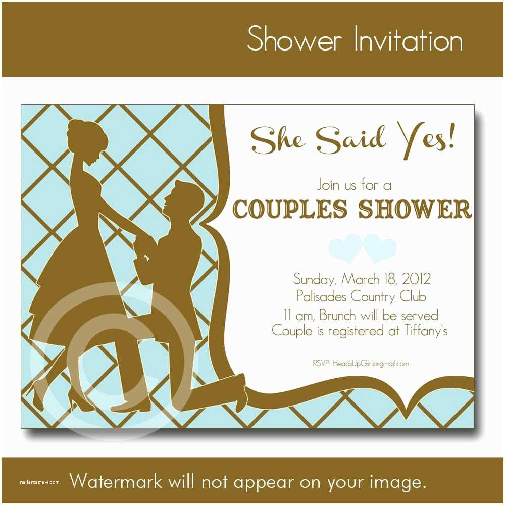 Free Bridal Shower Invitations Wedding Shower Invitation Wording for Couples Yaseen for
