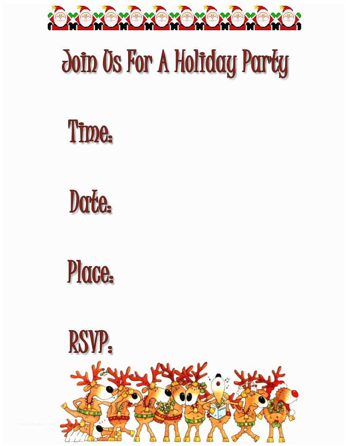 Free Christmas Party Invitation Templates 7 Best Of Free Printable Holiday Party Invitations