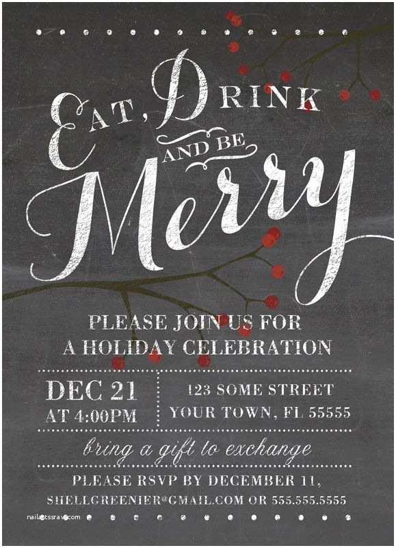 Free Christmas Party Invitation Templates Free Holiday Party Invitation Templates