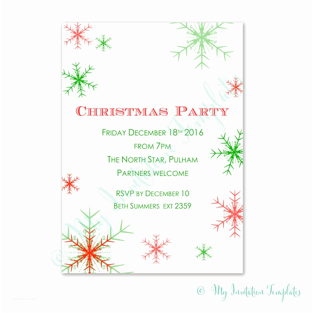 Free Christmas Party Invitations Christmas Invitation Templates Diy Christmas Invitation