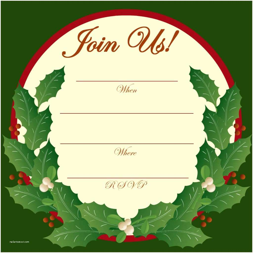 Free Christmas Party Invitations Free Printable Christmas and New Year Party Invitations