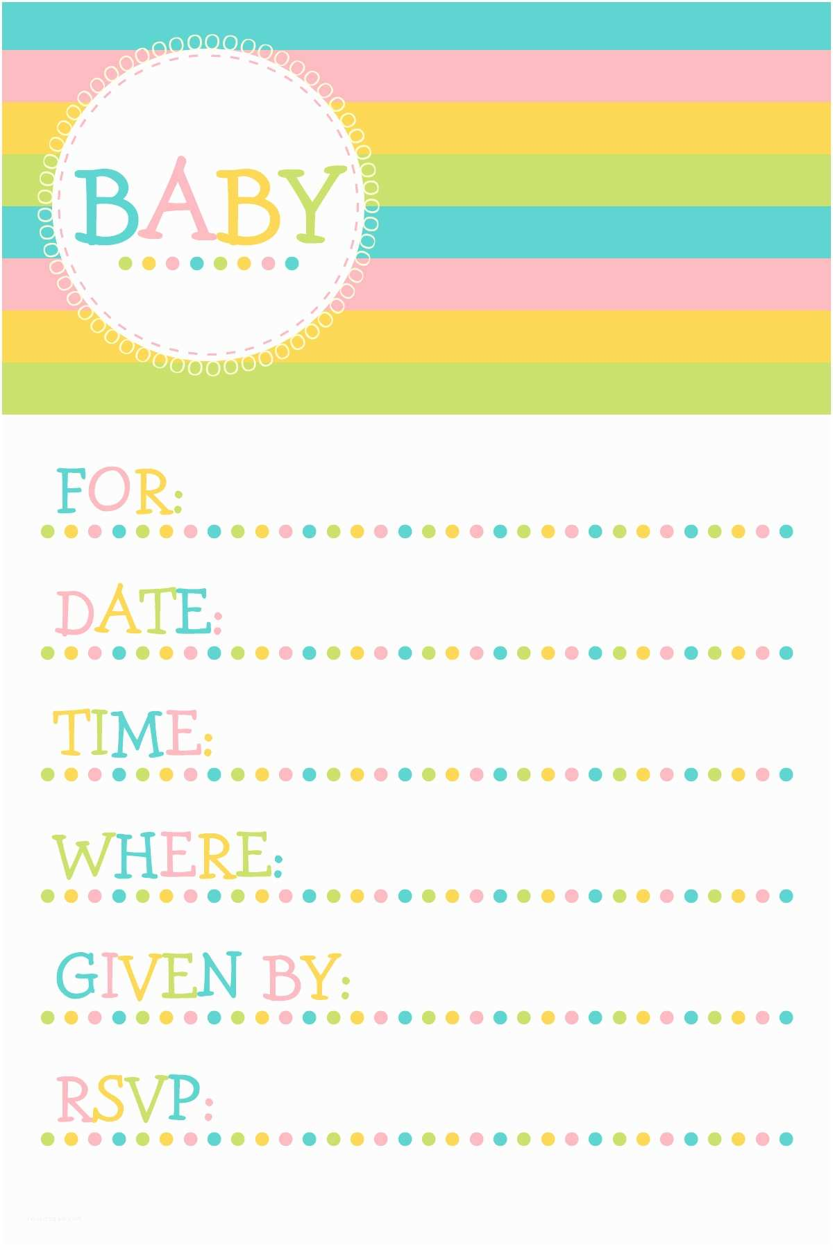 Free Downloadable Baby Shower Invitations Free Baby Shower Invitation Template