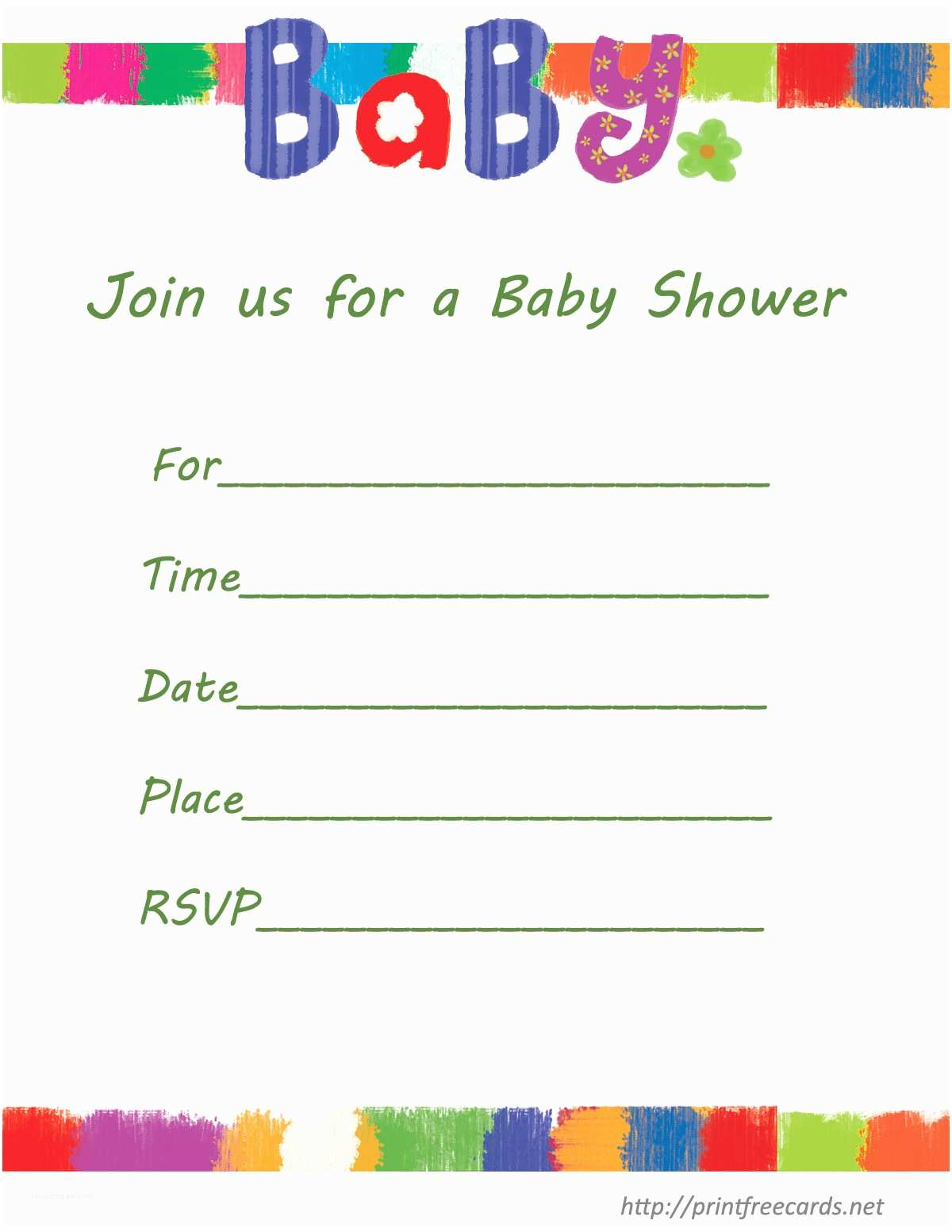 Free Downloadable Baby Shower Invitations Free Printable Baby Shower Invitations Templates