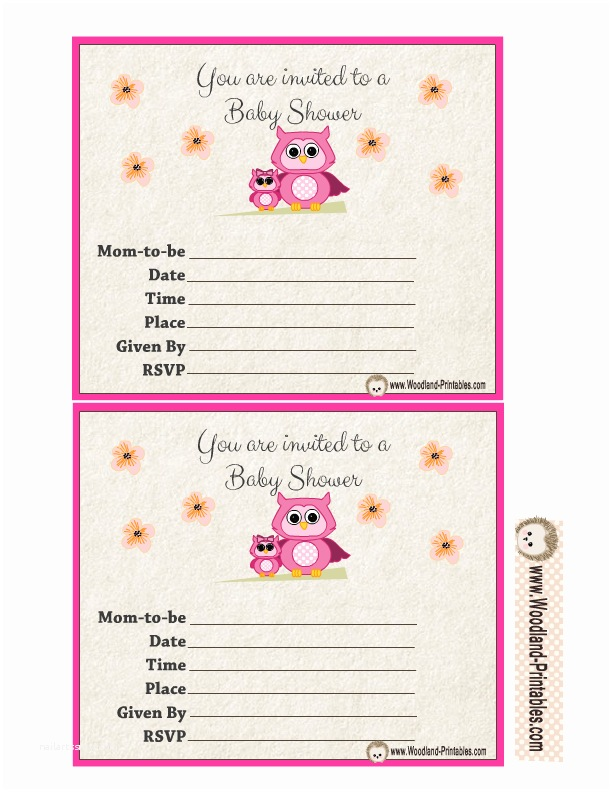 Free Downloadable Baby Shower Invitations Free Printable Woodland Baby Shower Party Invitations