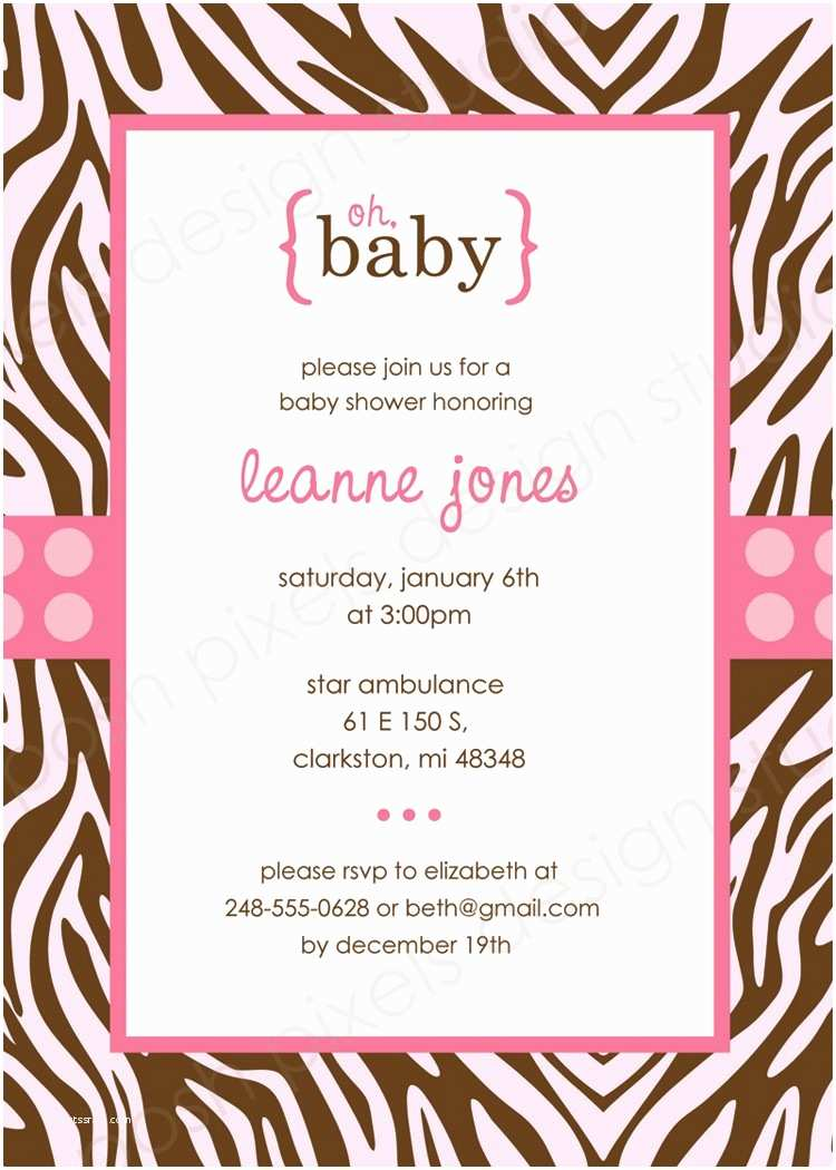 Free Downloadable Baby Shower Invitations Template Baby Free Printable Shower Invitations Pink and