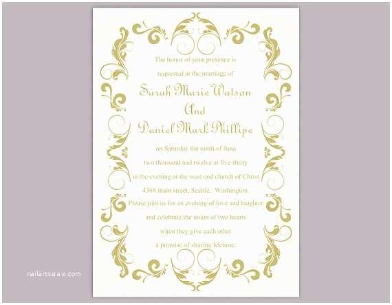 Free Editable Wedding Invitation Diy Wedding Invitation Template Editable Text Word File