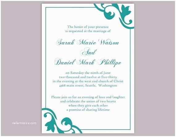Free Editable Wedding Invitation Diy Wedding Invitation Template Editable Word File