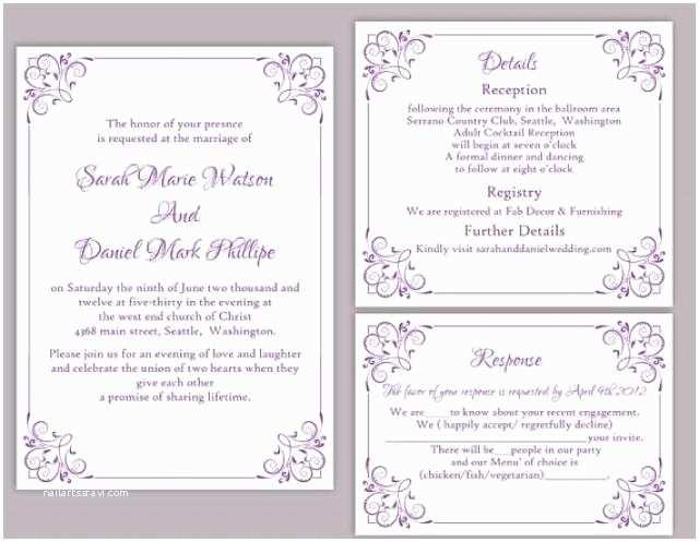 Free Editable Wedding Invitation Editable Wedding Invitation Free Download Yaseen