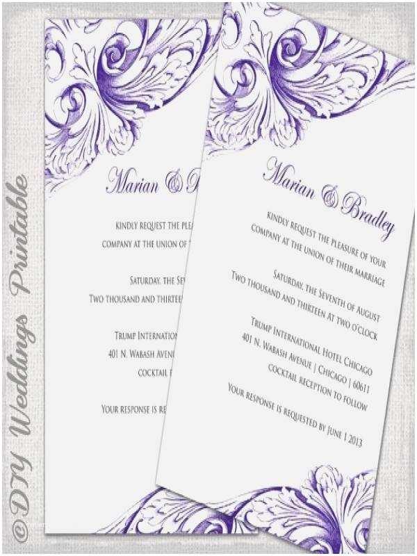 Free Editable Wedding Invitation Editable Wedding
