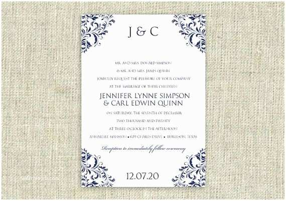 Free Editable Wedding Invitation Pinterest • The World's Catalog Of