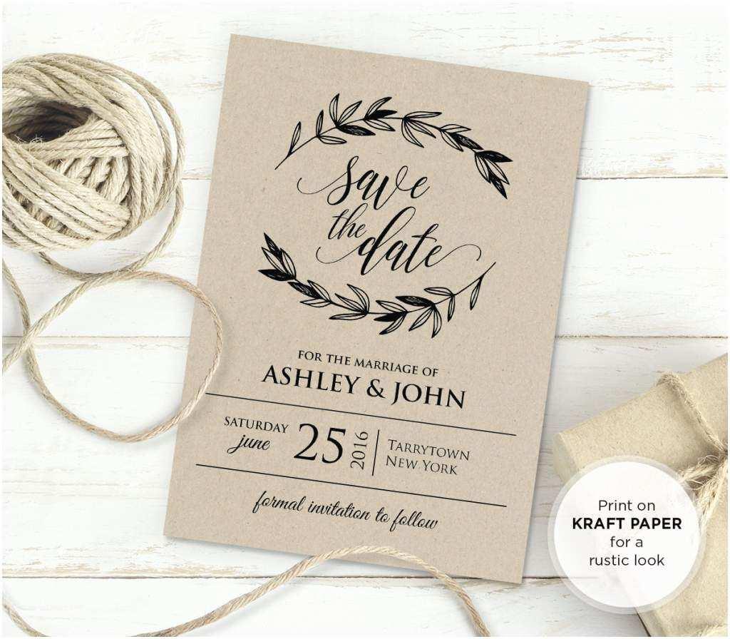 Free Editable Wedding Invitation Rustic Wedding Invitation