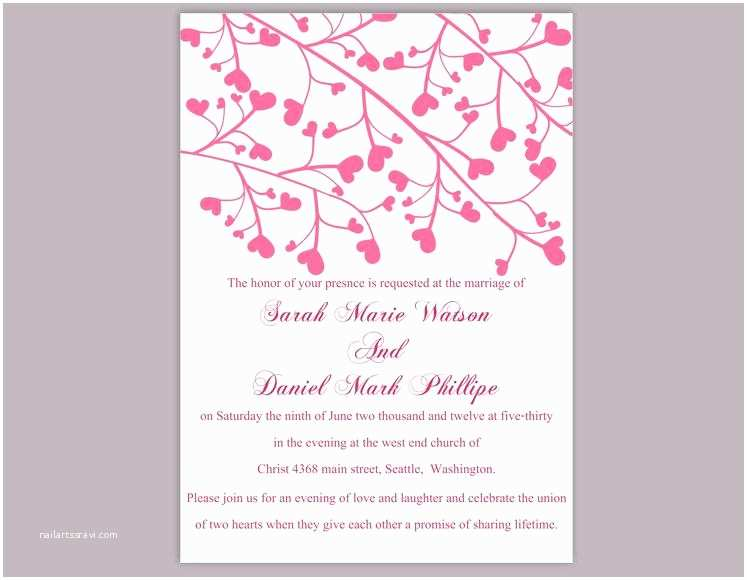 Free Editable Wedding Invitation Templates Wedding Invitation Template Download Printable Wedding