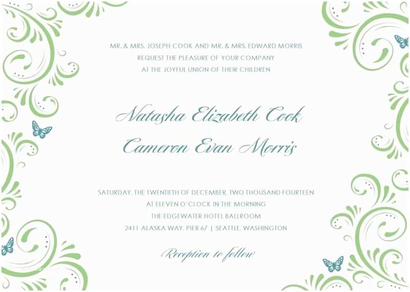 Free Email Wedding Invitation Templates Email Invitations Free Template Resume Builder