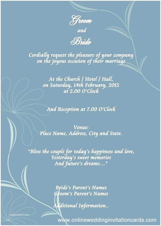 Free Email Wedding Invitation Templates Free Email Invitations