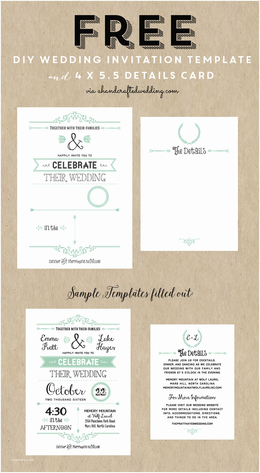 Free Email Wedding Invitation Templates Free Printable Wedding Invitation Template