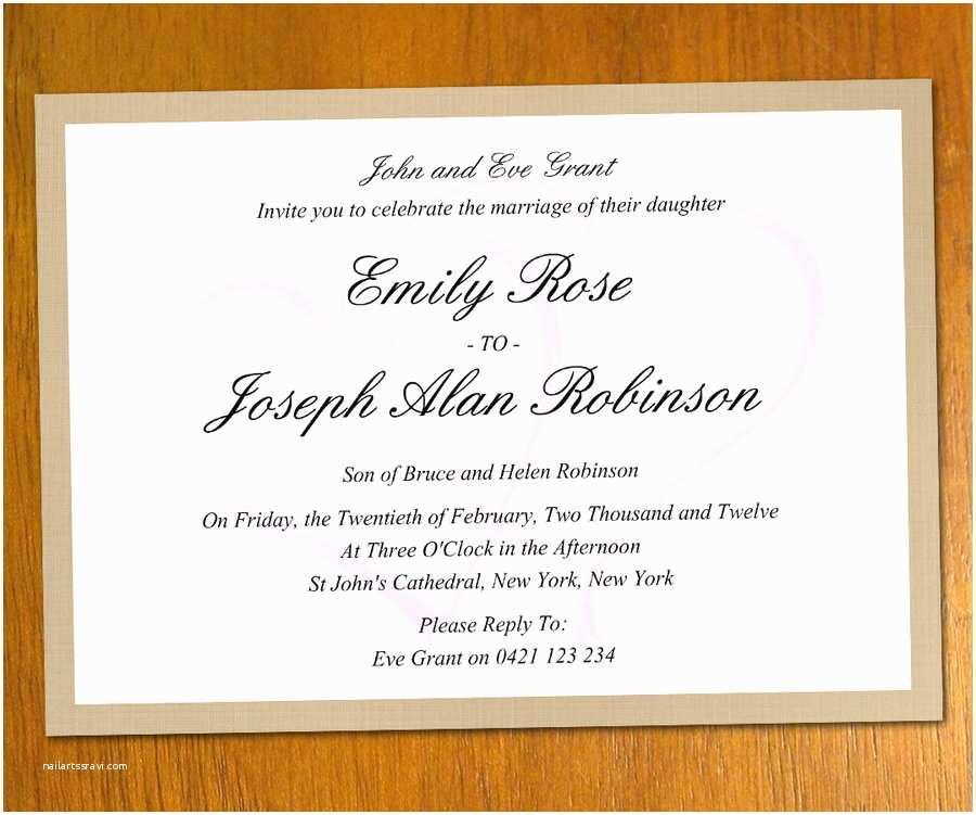 Free Email Wedding Invitation Templates Wedding Invitation Templates 07wedwebtalks