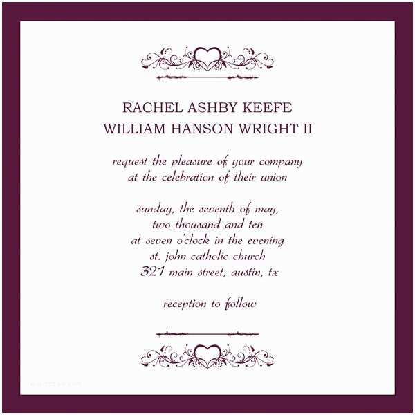Free Email Wedding Invitation Templates Wedding Invites Wording Template