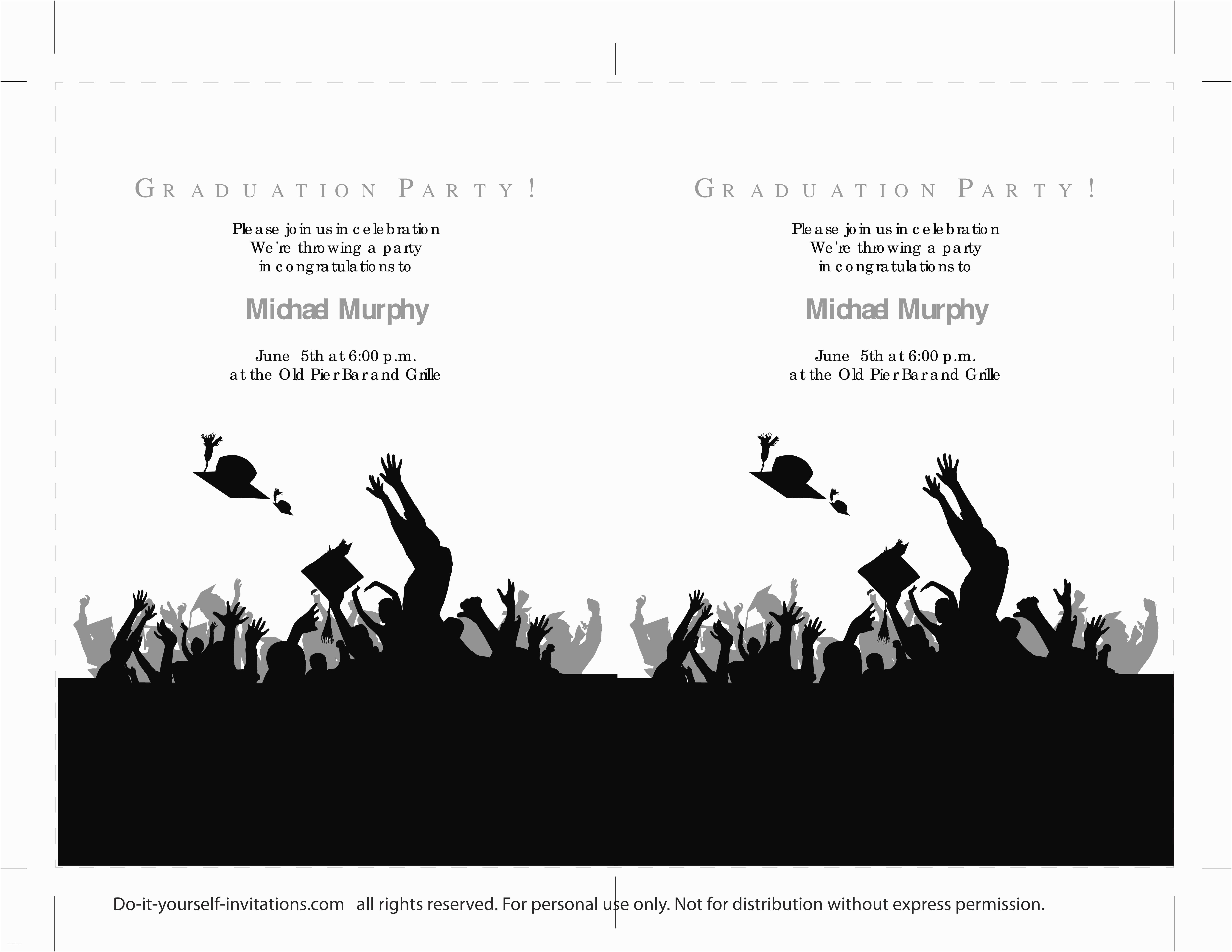 Free Graduation Invitation Templates 40 Free Graduation Invitation Templates Template Lab