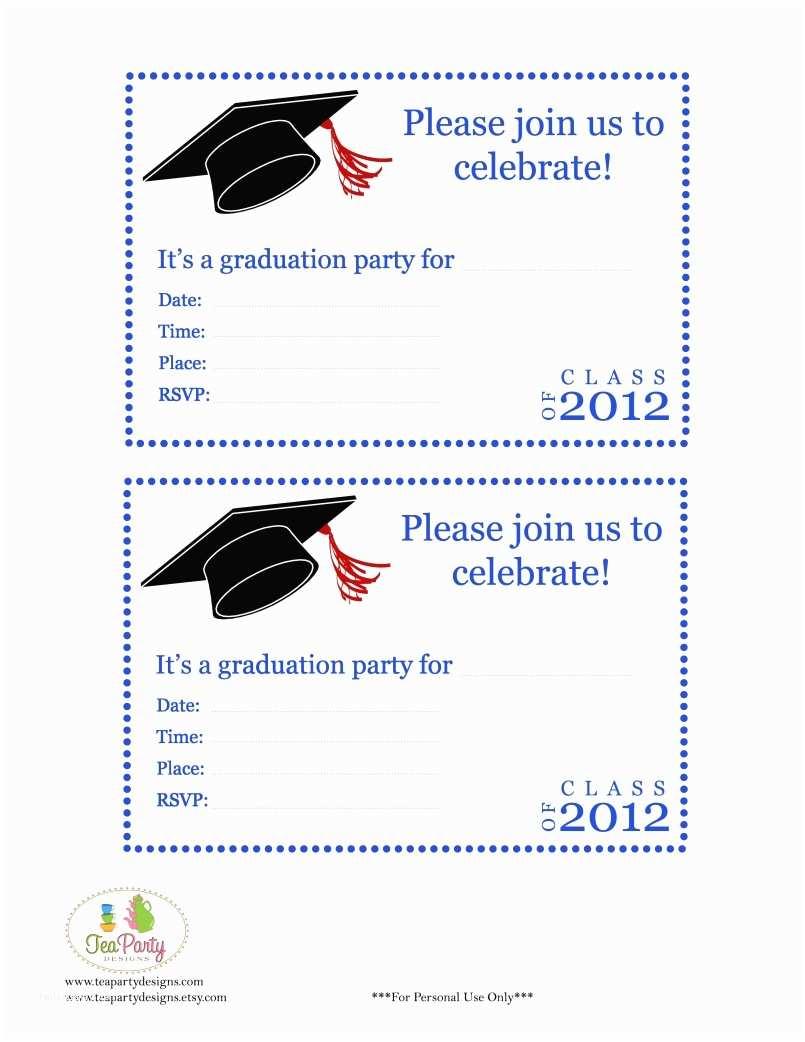 Free Graduation Invitations Free Printable Graduation Announcements solnet Sy