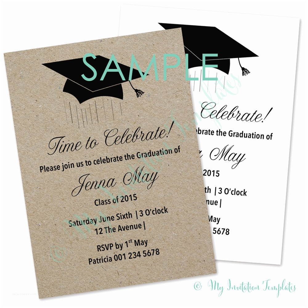 Free Graduation Invitations Graduation Invitation Template Free Sample